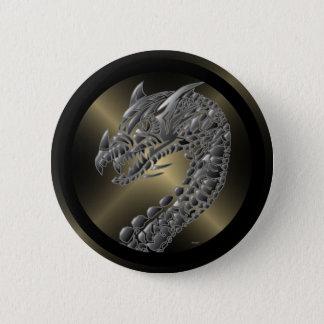 Stammes- metallischer Drache Runder Button 5,7 Cm