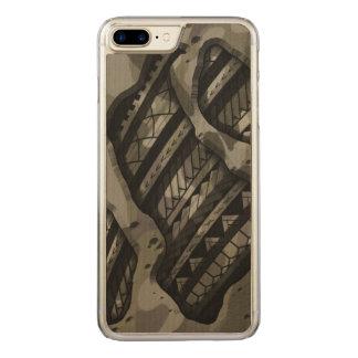 Stammes- Militär tarnt Tätowierungsentwurf Carved iPhone 8 Plus/7 Plus Hülle