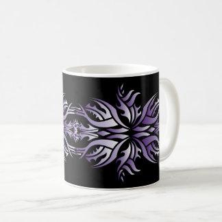 Stammes mug 5 purple and whit kaffeetasse