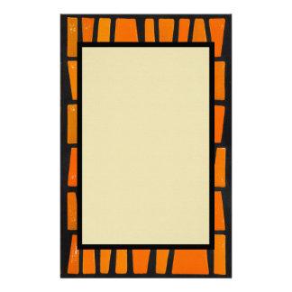Stammes- Muster der Orange und des Druckpapiere