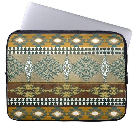 Stammes- Muster des südwestlichen Navajos Laptop Sleeve