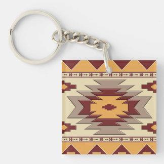 Stammes- Muster des südwestlichen Navajos Schlüsselanhänger