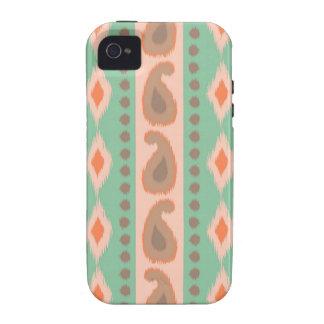 Stammes- Paisley geometrisches aztekisches ikat iPhone 4/4S Hüllen