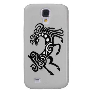 Stammes- Pferdetätowierungsentwurf Galaxy S4 Hülle