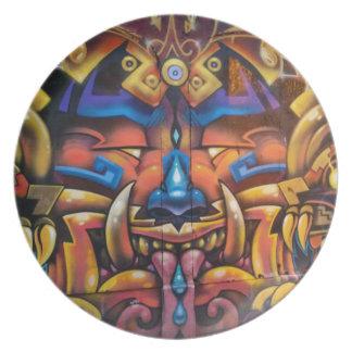 Stammes- Platte Teller