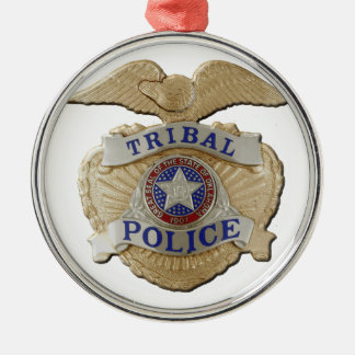 Stammes- Polizei Oklahomas Silbernes Ornament