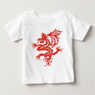 Stammes- roter Drache Baby T-shirt