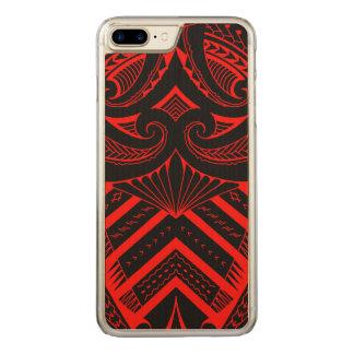 Stammes- samoaische Art des Tätowierungsentwurfs Carved iPhone 8 Plus/7 Plus Hülle