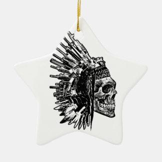 Stammes- Schädel, Gewehre und Messer-Verzierung Keramik Ornament