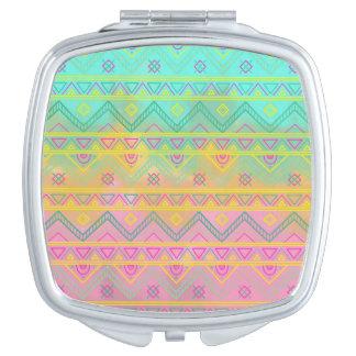 Stammes- schicker aztekischer geometrischer taschenspiegel