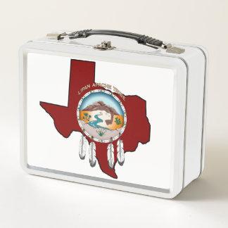 Stammes- Schild-Texas-MetallLunchbox Metall Lunch Box