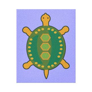 Stammes- Schildkröte Leinwanddruck