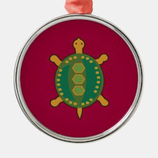 Stammes- Schildkröte Silbernes Ornament
