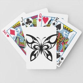 Stammes--Schmetterling-Silhouette Bicycle Spielkarten