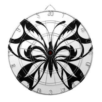 Stammes--Schmetterling-Silhouette Dartscheibe