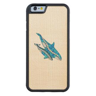 Stammes- Schwertwal-Wale Bumper iPhone 6 Hülle Ahorn