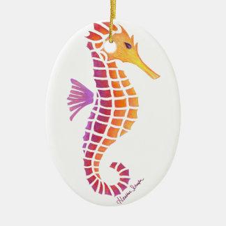 Stammes- Seepferd Keramik Ornament