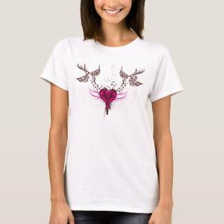 Stammes- Spatzen u. Herz-T - Shirt