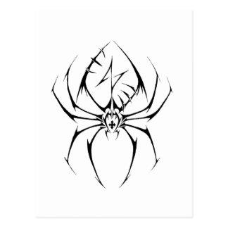 Stammes- Spinnen-Tätowierungs-Entwurf Postkarte