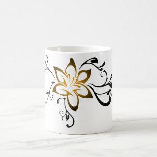 Stammes- Strudelkunst der glänzenden Blume Kaffeetasse