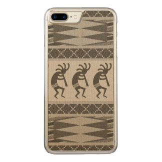 Stammes- Südwestentwurf Kokopelli Telefon Carved iPhone 8 Plus/7 Plus Hülle