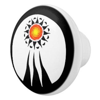Stammes- Sun und Strahlen 2 Keramikknauf