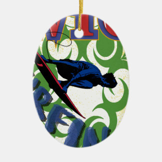 Stammes surfing ovales keramik ornament