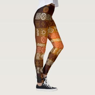 Stammes- Tatoo Boho geometrische Muster-Gamaschen Leggings