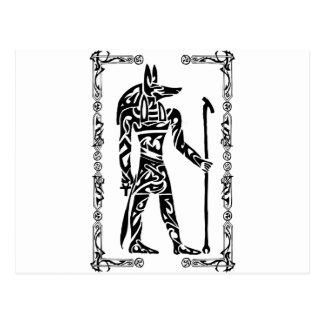 Stammes- Tätowierung Anubis Postkarte