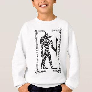 Stammes- Tätowierung Anubis Sweatshirt