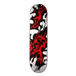 Stammes- Tätowierungs-Blätter (Rot und Schwarzes) Skateboard Bretter