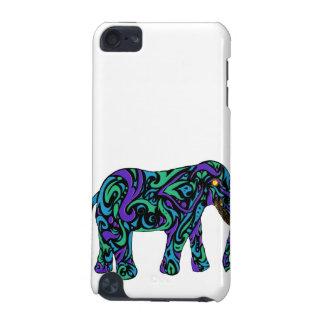 Stammes- Tätowierungs-Elefant in lila Blauem und g