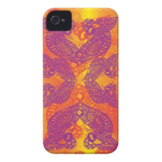 Stammes- Tätowierungs-Vogel-Hennastrauch iPhone 4 Case-Mate Hüllen