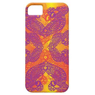 Stammes- Tätowierungs-Vogel iPhone 5 Schutzhülle