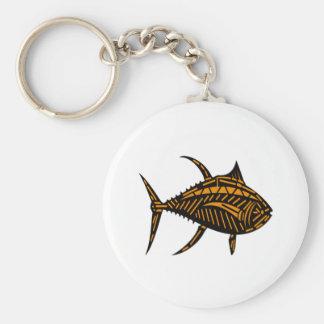 Stammes- Thunfisch Schlüsselanhänger