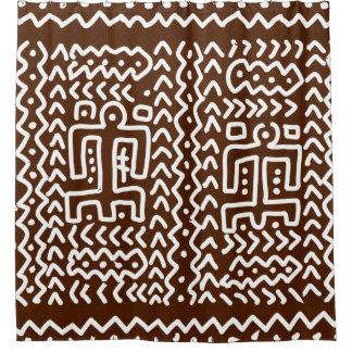 Stammes- ursprünglicher Entwurf Browns Duschvorhang