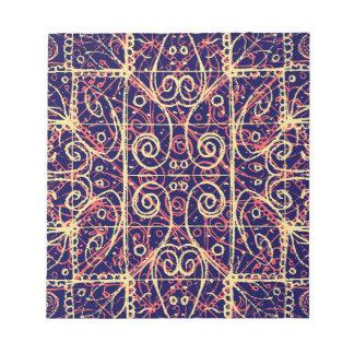 Stammes- verziertes Muster Notizblock