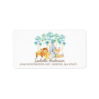 Stammes- Waldtier-Babyparty-Adressen-Etikett Adressaufkleber
