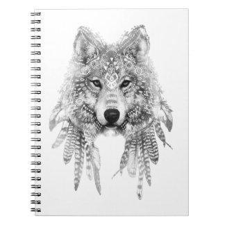 Stammes- Wolf-Geist Notizblock