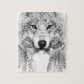 Stammes- Wolf-Geist Puzzle