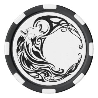 Stammes- Wolf Poker Chip Set