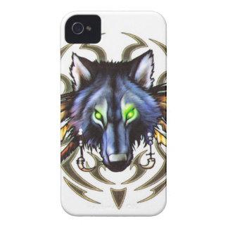 Stammes- Wolftätowierungsentwurf iPhone 4 Cover