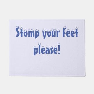 Stampfen Ihre Füße Tür-Matte Türmatte