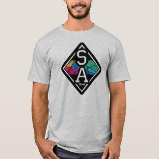 Stand. Fleck-Glas-T-Stück T-Shirt