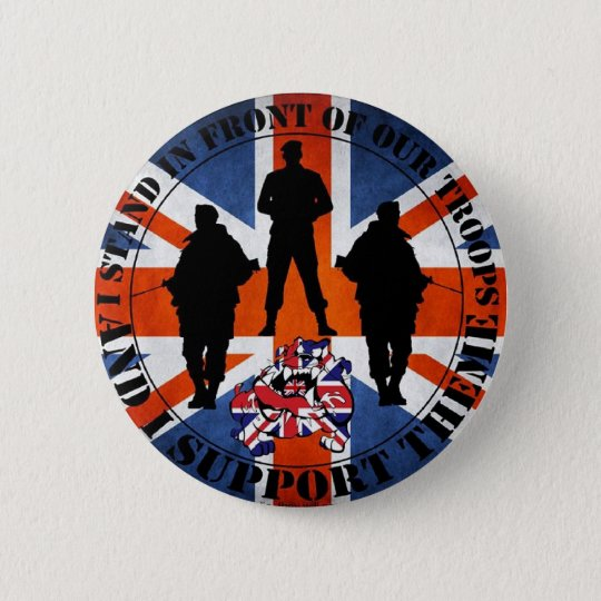 Stand in front of our Troops Runder Button 5,1 Cm
