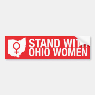 Stand mit Ohio Frau-Stoßdämpfer Aufkleber Autoaufkleber