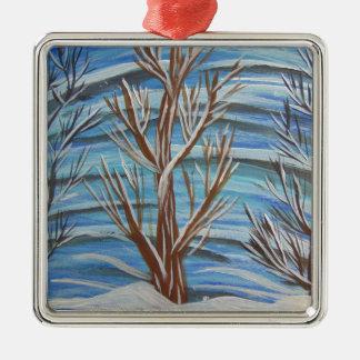 Stand stolz quadratisches silberfarbenes ornament