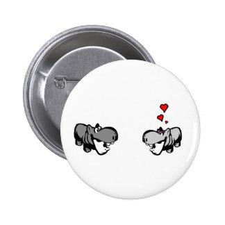 Standard, 2 ¼ Zoll-runder Knopf - Flusspferd in Runder Button 5,1 Cm