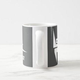 Standard 325 ml-Tasse mit Weiß auf Schiefer-Logo Kaffeetasse