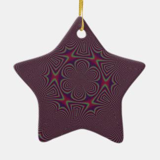 Standard Violetter und gelbes Abrastrato Keramik Ornament